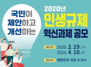 안양시, 2020년 민생규제 혁신 과제 공모