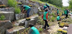 오산시 새마을회, 깨끗한 지역 환경 조성...국토대청결운동 및 꽃길 조성 사업 진행
