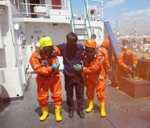 인천해경, 해상 화학사고 대비 훈련 실시